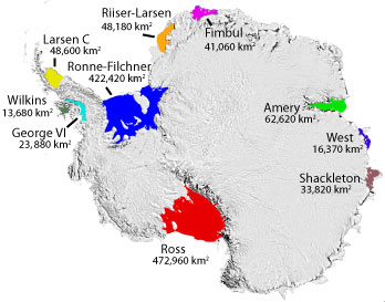 Antarctic-ice-shelf